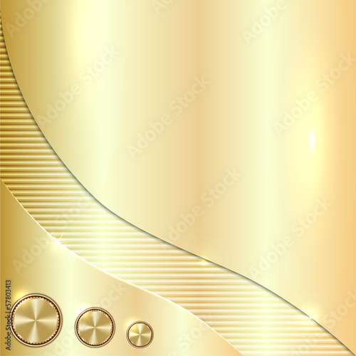 Vector golden metallic background
