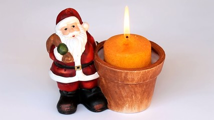 Santa claus with a candle