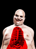 Fat Horrible Clown With Split Chest