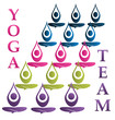 Yoga team logo vector
