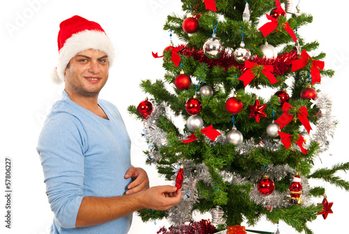 Cheerful Christmas man