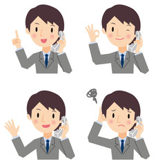 電話をしている ビジネスマン