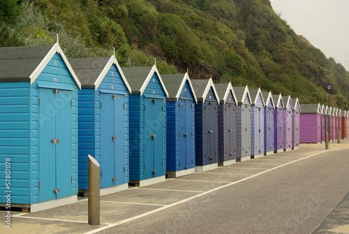 Staande foto Scandinavië Beach huts on the beach in Bournemouth, UK