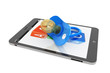 Pacifier over Tablet PC