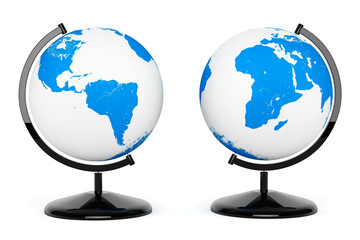 Two Earth Desk Globe