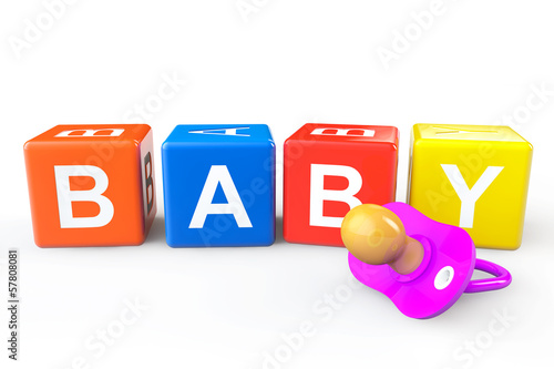 Baby Cubes with pacifier