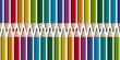 farbige Stifte in Reihe - nahtlos