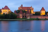 Malbork at night, Pomerania, Poland