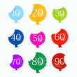 Vector sale and discount icons in shiny colours