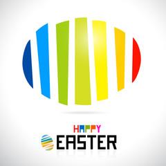 Vector Easter egg, shiny colors, Happy Easter celebration