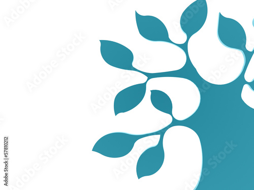 Abstract blue tree business concept