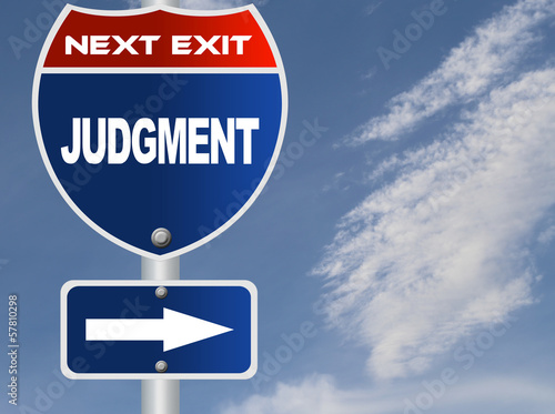 Judgment road sign