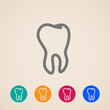 vector icons with a tooth