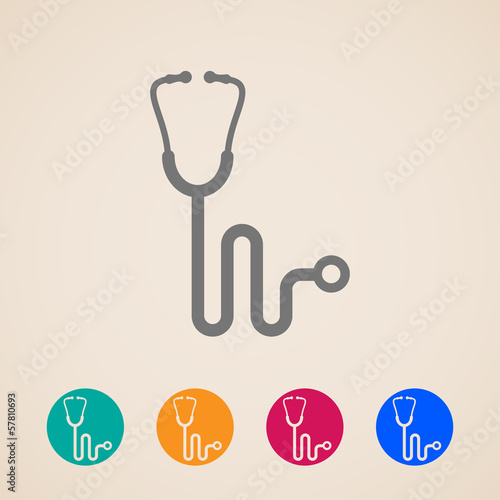 vector stethoscope icons