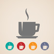 vector coffee or tea cup icons