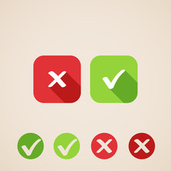 vector check mark icons. flat icons for web applications