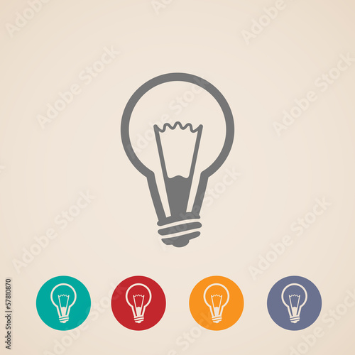 vector light bulb icons