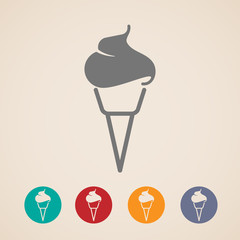 vector ice cream icons
