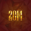happy new year 2014. holiday background with golden numbers