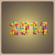 happy new 2014 year. holiday background with balloons