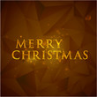 merry christmas. holiday background with golden text