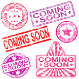 Coming Soon Rubber Stamps