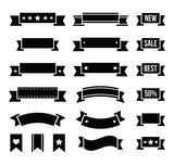 Retro ribbons, vintage bookmarks set - vector