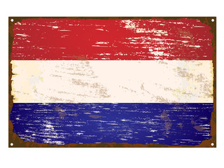 Netherlands Flag Enamel Sign