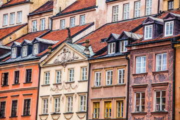 Traditional architecture in Warsaw, Poland
