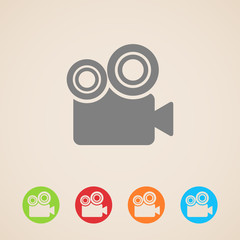 vector movie camera icons