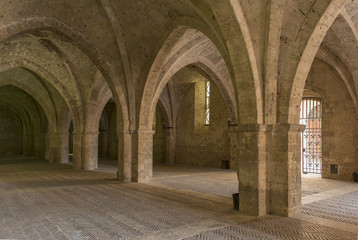 vaulted ground floor of Episcopal Palace, Rieti