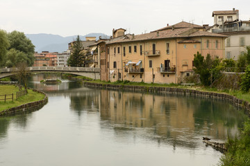 Velino bridge and old houses, Rieti