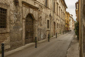 old houses in San Francesco street, Rieti