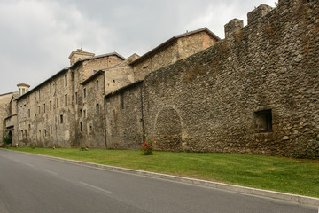 houses in medieval city walls, Rieti