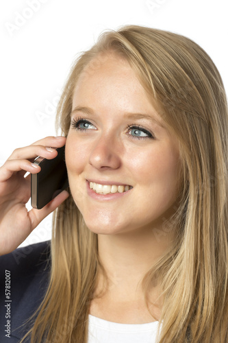 Blond phoning woman