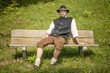 Bavarian man on bench