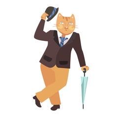 cat gentleman (vector)