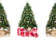 weihnachtsbäume mit geschenken