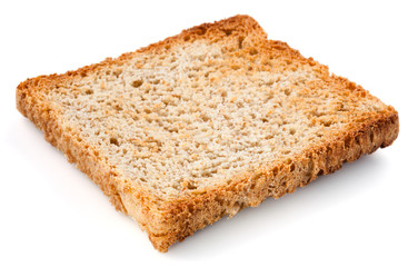 White bread slice. Toast Isolated.