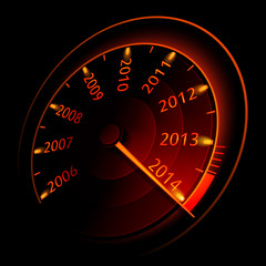 Speedometer 2014. Vector illustration
