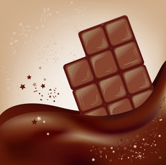 chocolate bar on a beautiful background