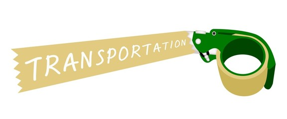 Adhesive Tape Dispenser With A Word Transportation