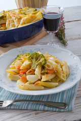 .Pasta Casserole with vegetables