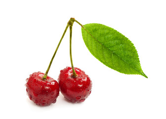 Two sweet cherry