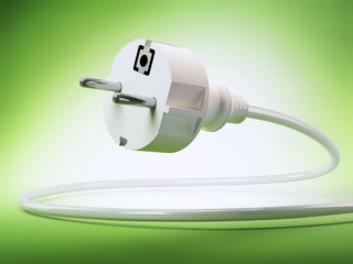 Power plug 3D - green