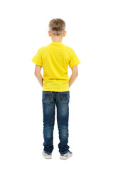 Rear view of boy