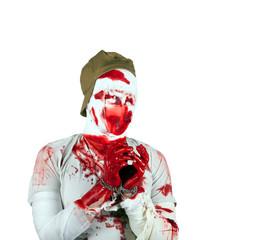 eyeless scary bloody zombie