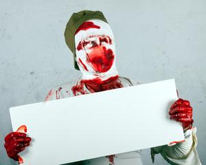 terrible blind bloody zombie
