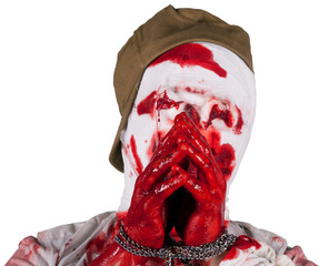 captive blind bloody zombie