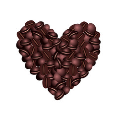 Coffee beans heart